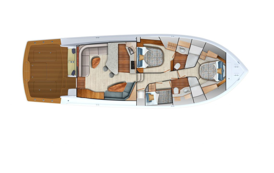 Viking Yachts' 54 Convertible Accomms Interior