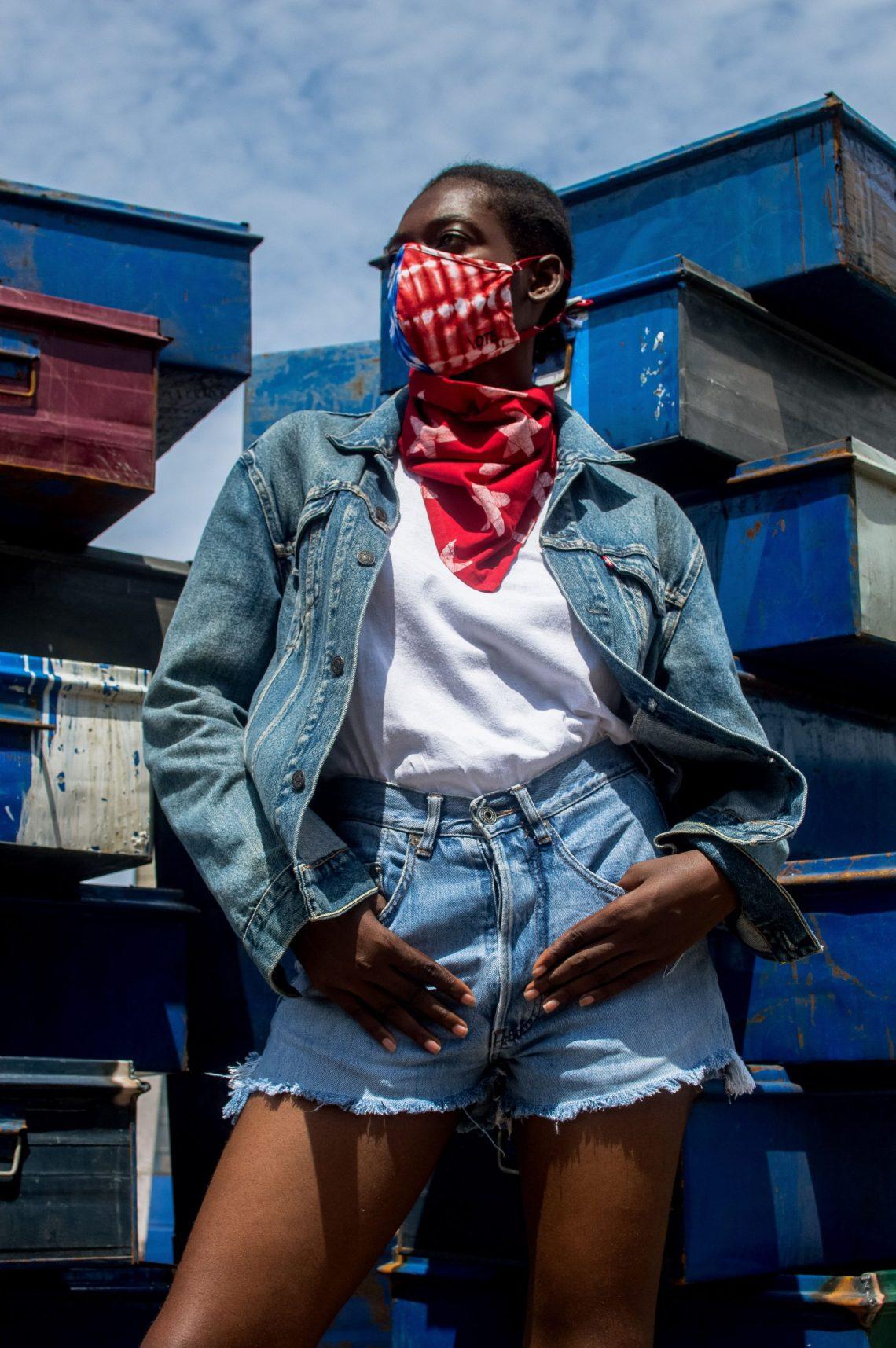 Studio 189 x FOF Blue & Red Tie Dye Mask