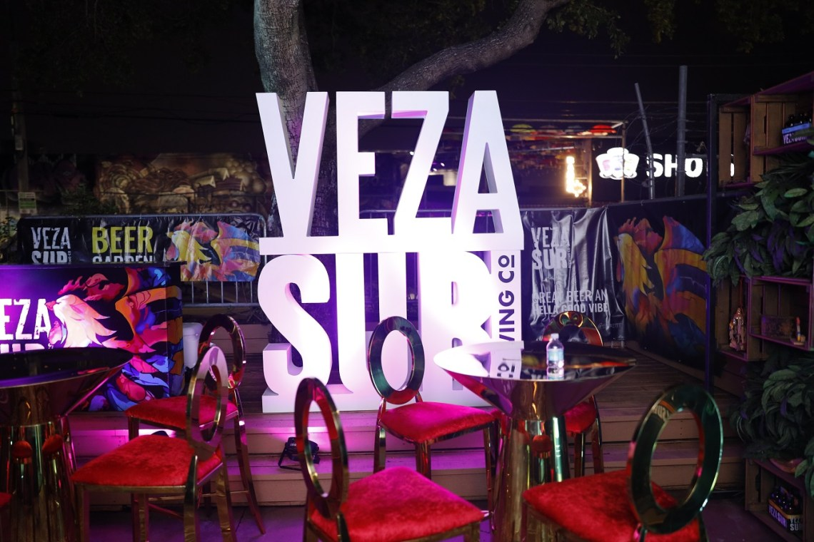 Veza Sur beer garden - Bardot Live Presents Nicky Jam livestream concert with GlobalStreamNow - CREDIT Kevin Quiles