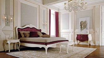 Ruby Red Parisian Style for Luisa Mascheroni's Valentine's Bedroom