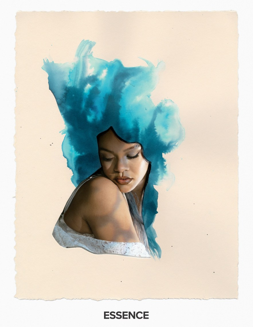 Rihanna Blue clouds