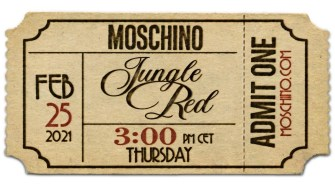 """Jungle Red"" – Moschino Fall Winter 2021"