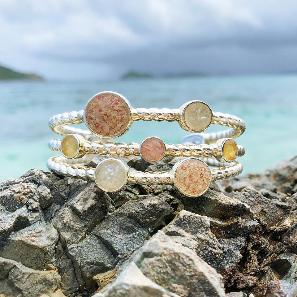 Rope Seven Sand cuff bracelet caribbean