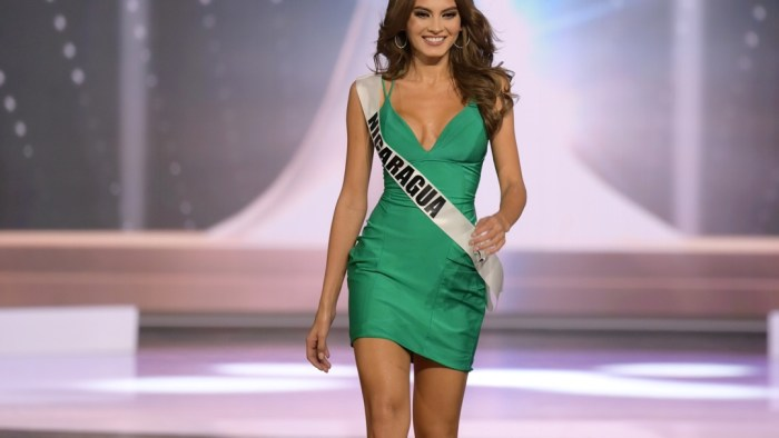 Ana Marcelo, Miss Universe Nicaragua 2020 on stage in fashion by Sherri Hill during the opening of the MISS UNIVERSE® Preliminary Competition at the Seminole Hard Rock Hotel & Casino in Hollywood, Florida on May 14, 2021. Tune in to the live telecast on FYI and Telemundo on Sunday, May 16 at 8:00 PM ET to see who will become the next Miss Universe.