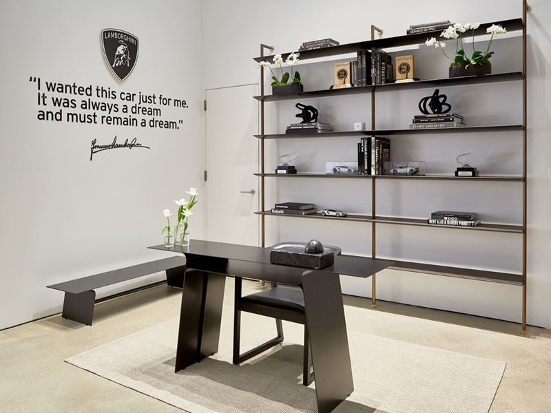 Lamborghini Lounge NYC - Entrance Shelf