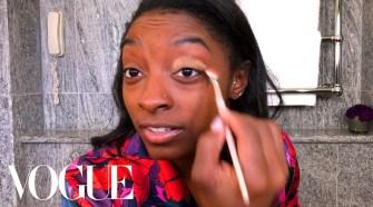 Simone Biles's Guide to Gold Eye Makeup | Beauty Secrets | Vogue