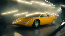 The reconstruction of the first Lamborghini Countach, the 1971 LP 500, is unveiled at Villa d'Este. 25,000 hours of work by Lamborghini Polo Storico