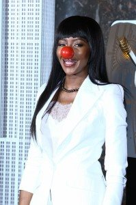 NAOMI CAMPBELL-RED NOSE DAY 3