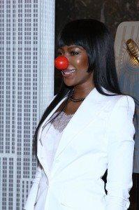 NAOMI CAMPBELL-RED NOSE DAY 1