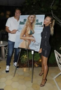 Tyra Banks, Camille Kostek, Rob Gronkowski and Olivia Culpo at SI Swimsuit Launch 7