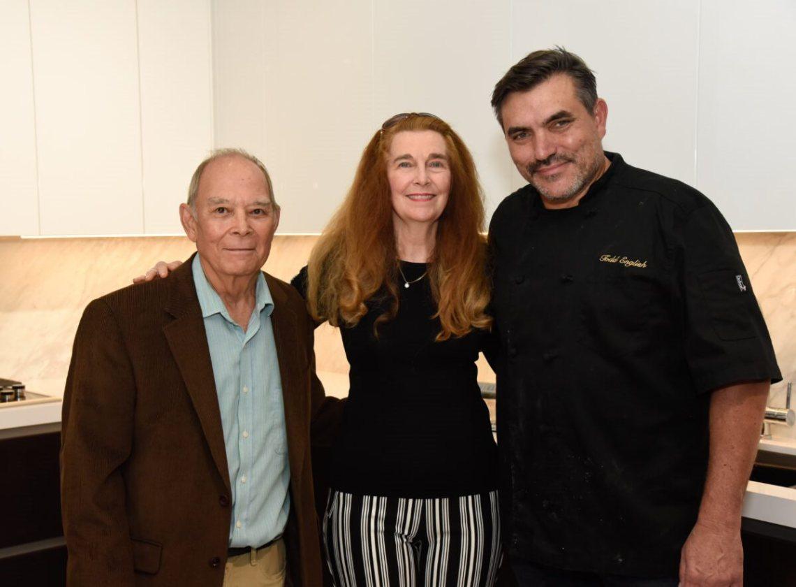 Dan and Rebecca Adache with Todd English