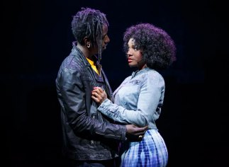 Saul Williams and Saycon Sengbloh in Holler If Ya Hear Me