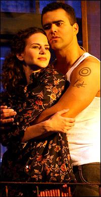 Christopher Jackson as Benny and Mandy Gonzalez as Nina. Jackson now plays George Washington in Hamilton.
