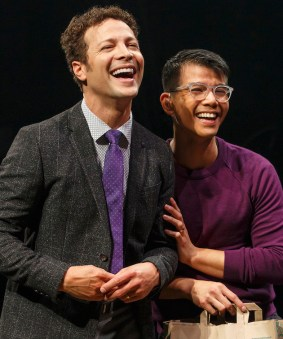 Justin Guarini and Telly Leung in In Trnsit