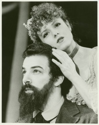 Mandy Patinkin and Bernadette Peters in Sunday in the Park with George, opened May 2, 1984. Its fourth Broadway production opened February 23, 2017