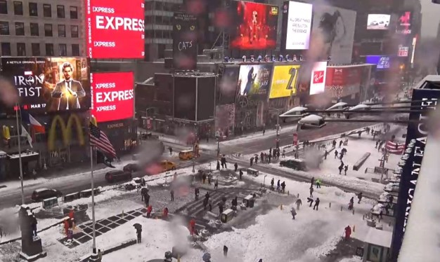 Times Square, Tuesday, March 14, 2017 at 12:30 p.m.