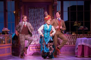 Taylor Trensch, Bette Midler, and Gavin Creel
