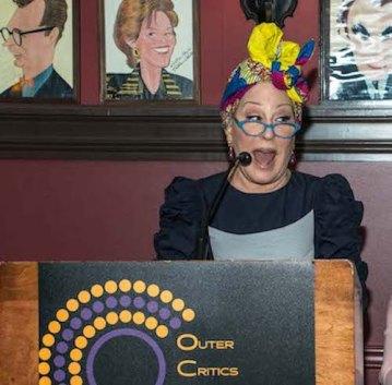 Bette Midler accepting OCC award at Sardis