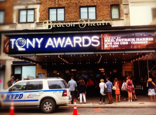Tony Awards Day: Outside Beacon Theater