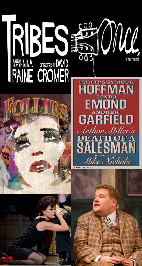 The main winners of the Drama Desk Awards for 2012: Tribes, Once, Follies, Death of A Salesman