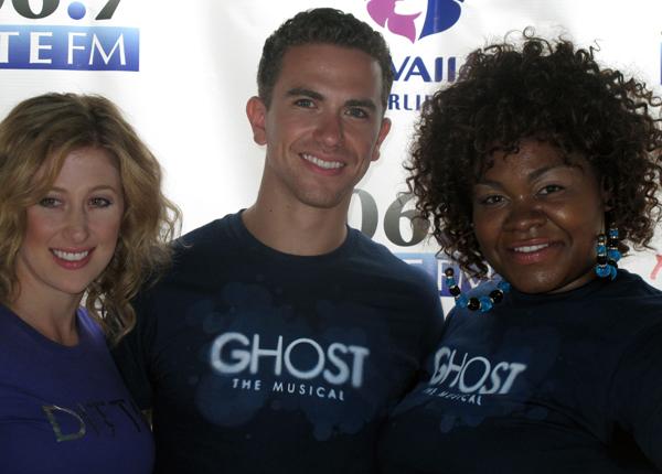 Ghost the Musical Broadway stars Caissie Levy, Richard Fleeshman and Da'Vine Joy Randolph