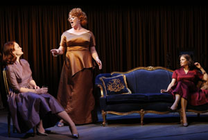 "Kate Baldwin, Katie Thompson and Mary Bacon in funny, moving scene in ""Giant"" by Michale John LaChiusa at the Public Theater"