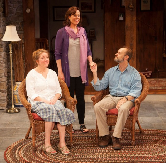 Kristine Nielsen, Sigourney Weaver and David Hyde Pierce in Christopher Duran's Vanya and Sonia and Masha and Spike at Lincoln Center