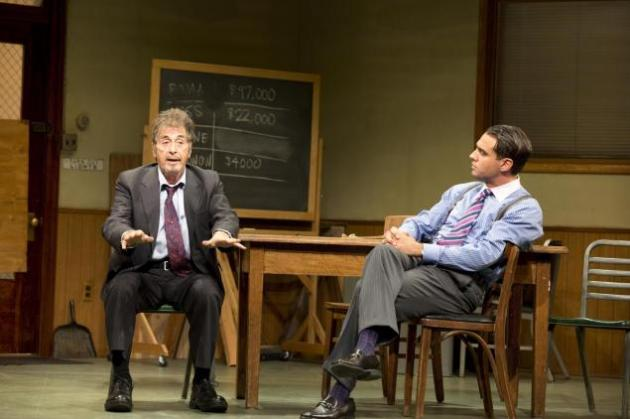 "Al Pacino and Bobby Cannavale star in the second Broadway revival of David Mamet's play ""Glengarry Glen Ross"""