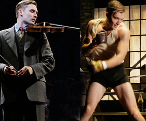 """In the Lincoln Center Theater production of """"Golden Boy,"""" Seth Numrich plays Joe Bonaparte, a talented violinist who becomes corrupted by his urge for fame and fortune in the boxing ring."""