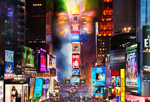 Millions visit Times Square  for New Year's Eve