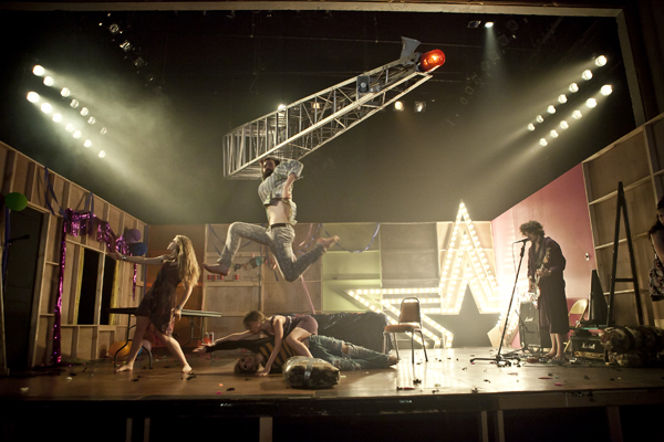 New Paradise's production of 27 was a relief to local critics, since it took place in a theater, but even this show had a social media component: A character set up a Facebook page