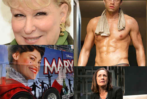 Bette Midler, Sebastian Stan in Picnic, Laurie Metcalf in The Other Place, Ashley Brown of Mary Poppins