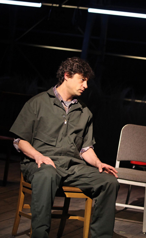 """Andy Paris plays one of Matthew Shepard's murderers in """"The Laramie Project: Ten Years Later"""" at the Brooklyn Academy of Music"""