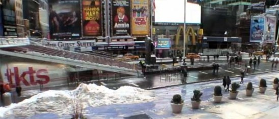 """Losing Nemo: The Times Square theater district on February 9, 2013, after the """"blizzard"""""""