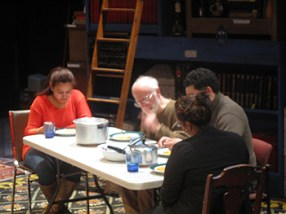 """A scene from """"After"""" is the family having a meal"""