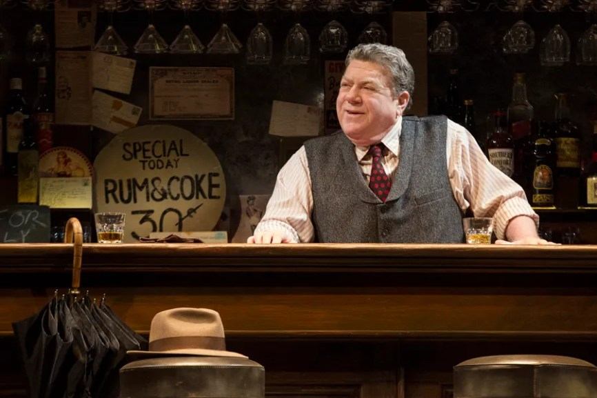 "George Wendt as bartender in ""Breakfast At Tiffany's"" on Broadway"