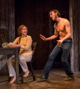 """Lisa Joyce and Zachary Booth played a married couple in """"The Mound Builders"""" at Signature Theater"""