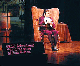 An open captioned performance of Amadeus on Broadway at the Music Box Theater in 2000