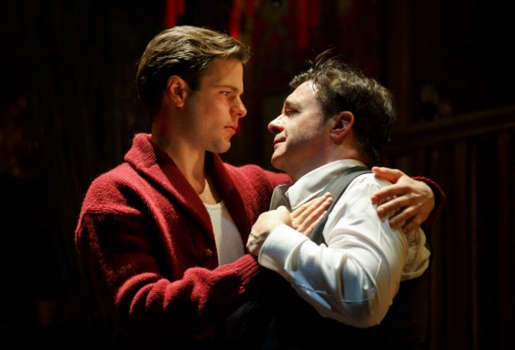 Jonny Orsini and Nathan Lane in The Nance, See June 12
