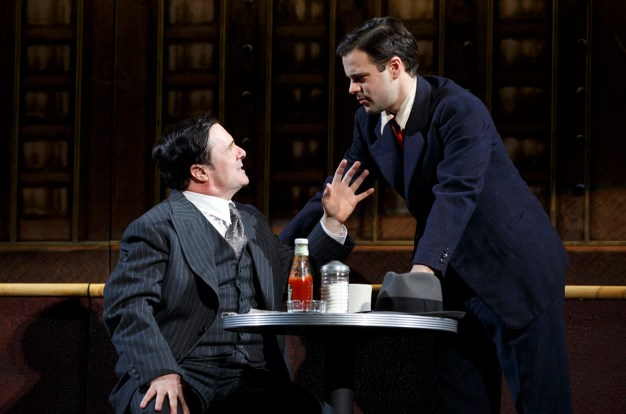 Nathan Lane and Jonny Orsini in the Automat