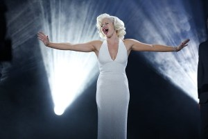 "Megan Hilty as Ivy playing Marilyn in ""Bombshell"" on Smash"