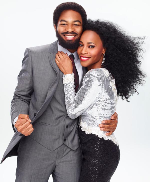 Brandon Victor Dixon and Valisia LeKae as Berry Gordy Jr. and Diana Ross in Motown The Musical