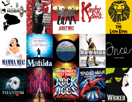 The 27 shows currently on Broadway, plus three soon to open.