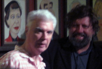 Here Lies Love composer David Byrne and Public Theater artistic director Oskar Eustis