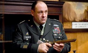 James Gandolfini in Looped