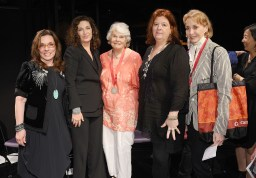 2013 Lily Award presenters Marsha Norman, and Julia Jordan; Lilly Awards recipient Lois Smith; presenter Theresa Rebeck and winner Mimi Kilgore