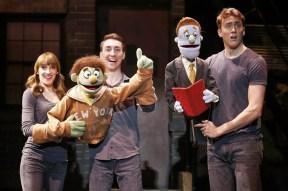 cast of Avenue Q, waving goodbye