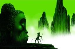 Monkey: Journey to the West, illustration by Jamie Hewlett, Buddha-Head-flat