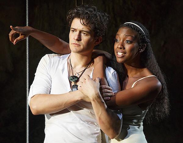 Orlando Bloom and Condola Rashad on Broadway