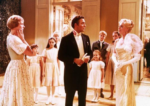 Julie Andrews, Christopher Plummer and Eleanor Parker in the 1965 movie The Sound of Music